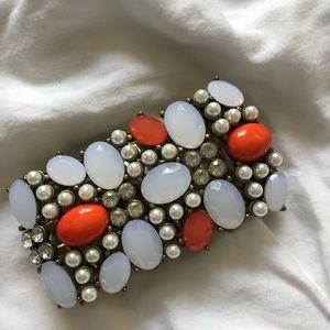 Ann Taylor Coral Beaded bracelet